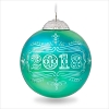 2018 Christmas Commemorative 6th Turquoise Glass Ball