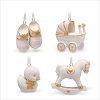 2018 Welcome Baby Ornament set/4 *Miniature