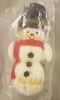 1974 Yarn Snowman (Glue has some yellowing due to age) In Torn Package