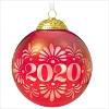 2020 Christmas Commemorative 8th Red/Bronze Glass Ball
