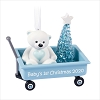 2020 Baby's First Christmas Boy Blue Wagon