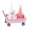 2020 Baby's First Christmas Girl Pink Wagon