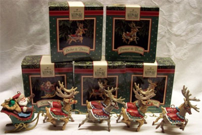 1992 santa his reindeer 5 santa claus only hallmark keepsake