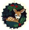 1995 Cozy Christmas Deer in Bottlecap *Club *Miniature