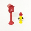 Call Box and Fire Hydrant set/2 Kiddie Car Accessory