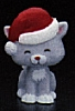 1980 Kitten Grey With Santa Cap *MM Christmas