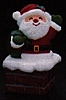 1984 Santa in Chimney Container  *MM Christmas