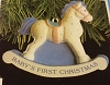 1991 Baby's First Christmas Boy Rocking Horse Baby Celebrations (SDB)