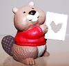 1994 Beaver with Heart Cutout*MM Valentine's