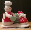 Canadian Snow-Chefs Musical Snowmen *VERY RARE. *NEW Condition