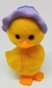 1984 Flocked Duck In Purple Bonnet *MM Easter
