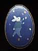 1988 Tin Egg - Blue With Bunny *MM Easter