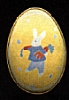 1988 Tin Egg - Yellow With Bunny *MM Easter
