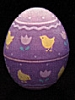 1988 Egg - Purple With Chick *MM Easter