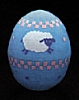 1988 Egg - Blue With Lamb *MM Easter