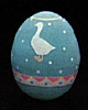 1988 Egg - Aqua With Goose *MM Easter