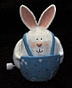 1988 Mechanical Rabbit With Wheels *MM Easter