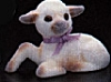 1985 Flocked Lamb Lying *MM Easter