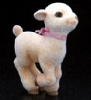 1981 Flocked Lamb Running *MM Easter