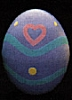 1986 Egg - Purple With Hearts *MM Easter
