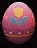1986 Egg - Pink With Tulip *MM Easter