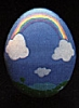 1986 Egg - Blue With Rainbow *MM Easter *no sticker