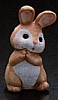1990 Ceramic Girl Bunny Praying *MM Easter