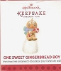 2013 One Sweet Gingerbread Boy Gumdrop *Miniature *Club *White