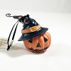 Pumpkin With Black Witches Hat *Halloween Trimmer