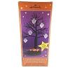 Lighted Halloween Tree With 5 Ghost Ornaments *Halloween