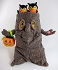 Halloween Plush Singing Tree Stump With Tag