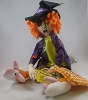 Maxine Witch on Broom Plush *Halloween