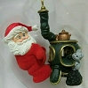 1987 Keeping Cozy Santa at Pot Belly Stove  *Magic