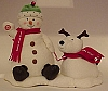 2004 Jingle Pals Snowman and Dog Plush #2 (NO TAG)