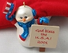 2001 Cool Patriot Snowman*Club Issued in Red Felt Bag