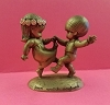 Little Gallery Pewter Figurine Joan Walsh Boy and Girl Dancing (NB)