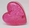 1986 Pink Glitter Heart Container *Hard to Find