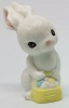 1982 Ceramic Bunny With Basket *MM Easter