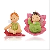 2015 Baby Fairy Messengers 1st Lotus and Poinsettia *Miniature