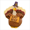 2015 Winking Turkey with Eat Beef Sign *Merry Miniature *No Hang Tag