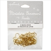 Miniature Ornament Hooks set/25 GOLD *Miniature