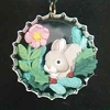 1996 Holiday Bunny in  Bottlecap *Club *Miniature
