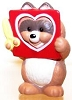 1993 Raccoon with Heart Cutout *MM Valentine's