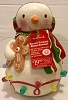 2010 Season's Treatings Musical Snowman With Gingerbread Porcelain