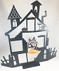 Spooky Ornament House *Halloween Display