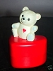 1985 Teddy Bear On Heart Container No Sticker *MM Valentines
