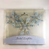 2001 Frostlight Faeries Fairy Beaded Snowflake - Blue