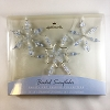2001 Frostlight Faeries Fairy Beaded Snowflake - Periwinkle