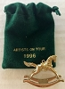 1996 Rocking Horse Gold *Expo *Miniature *Club