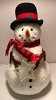 Happy The Snowman Plush Tree Topper W Tag
